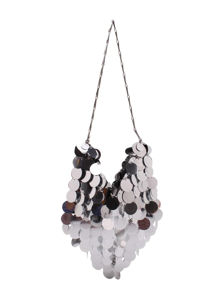 Paco Rabanne 'sparkle Hobo' Plastic Shoulder Bag - Silver
