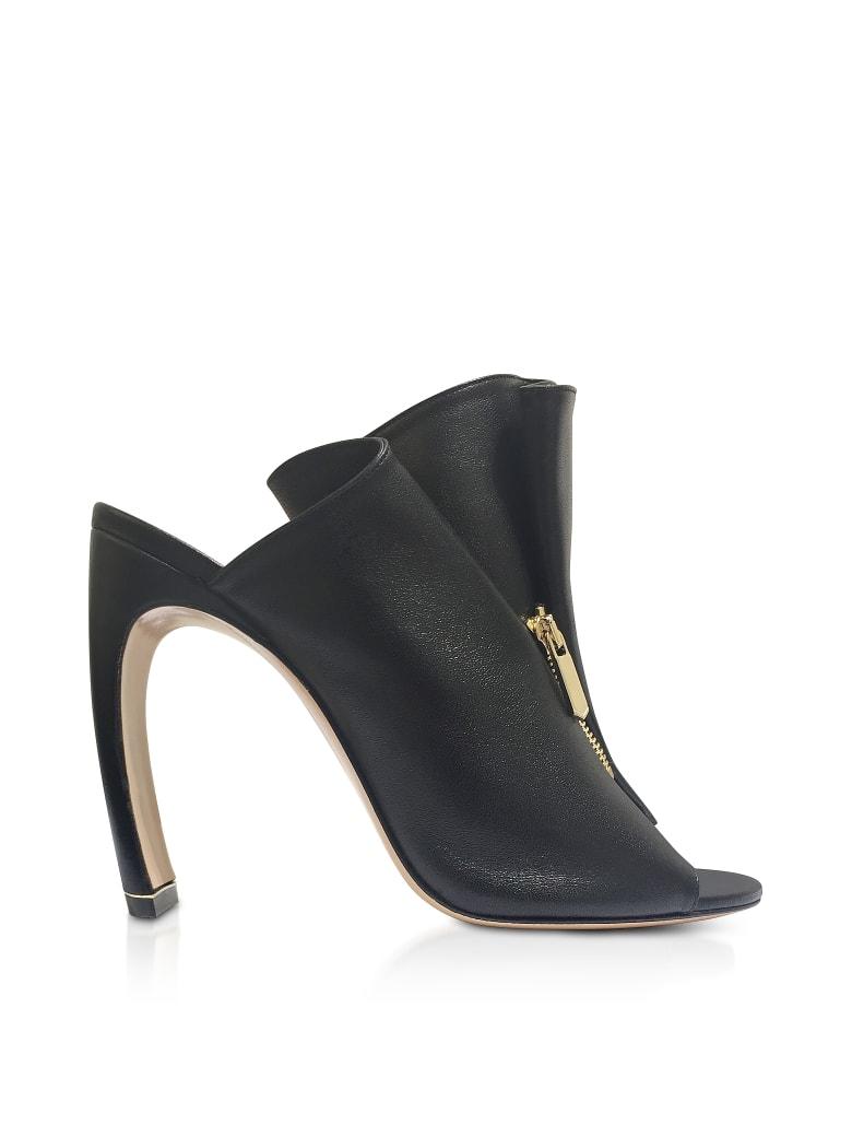 Nicholas Kirkwood Black Nappa 105mm Kristen High Heel Mules - Black