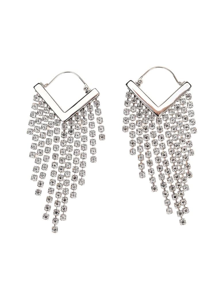 Isabel Marant Crystal-embellished Fringed Earrings - SILVER