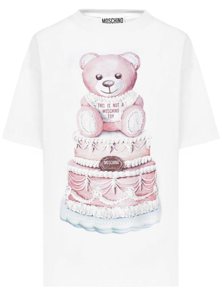 Moschino Cake Teddy Bear T-shirt - White