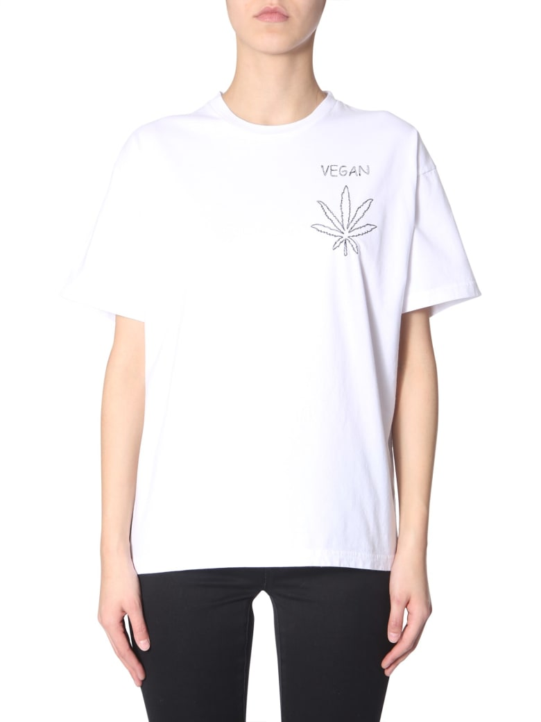 Riccardo Comi T-shirt With  Vegan  Embroidery - BIANCO