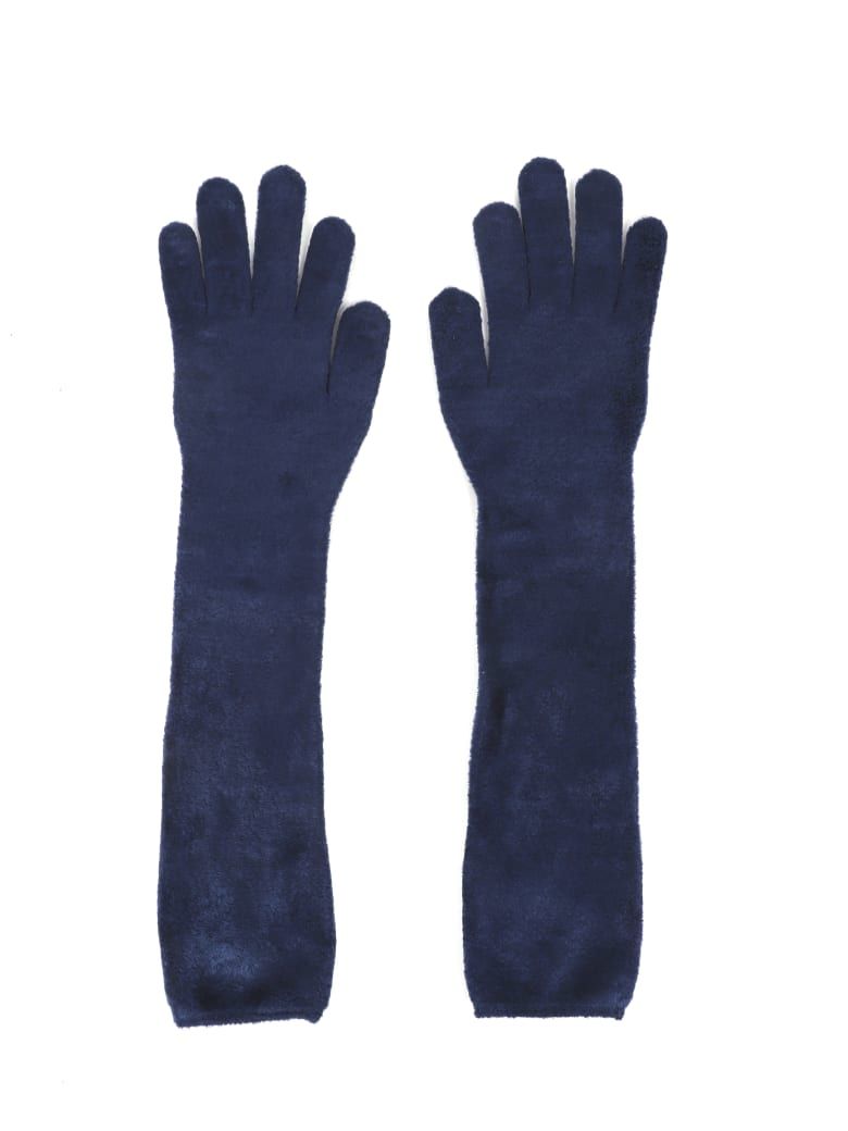 Alaia Navy Gloves - Navy
