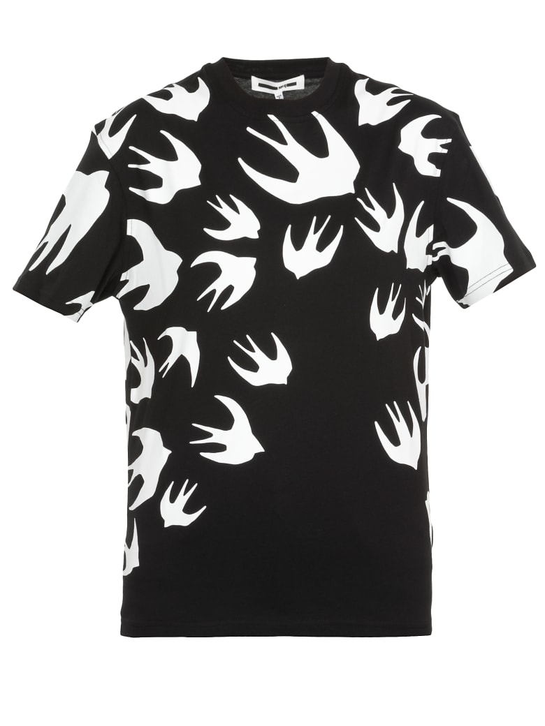 McQ Alexander McQueen Swallow Swarm T-shirt - Darkest Black