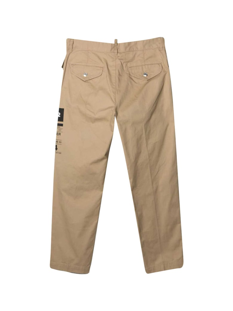 Dsquared2 Beige Trousers Teen - Unica