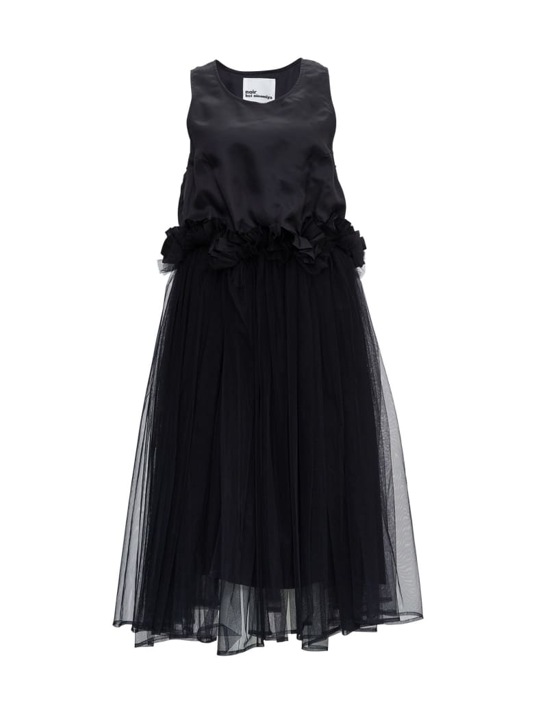 Noir Kei Ninomiya Tulle Dress - Black