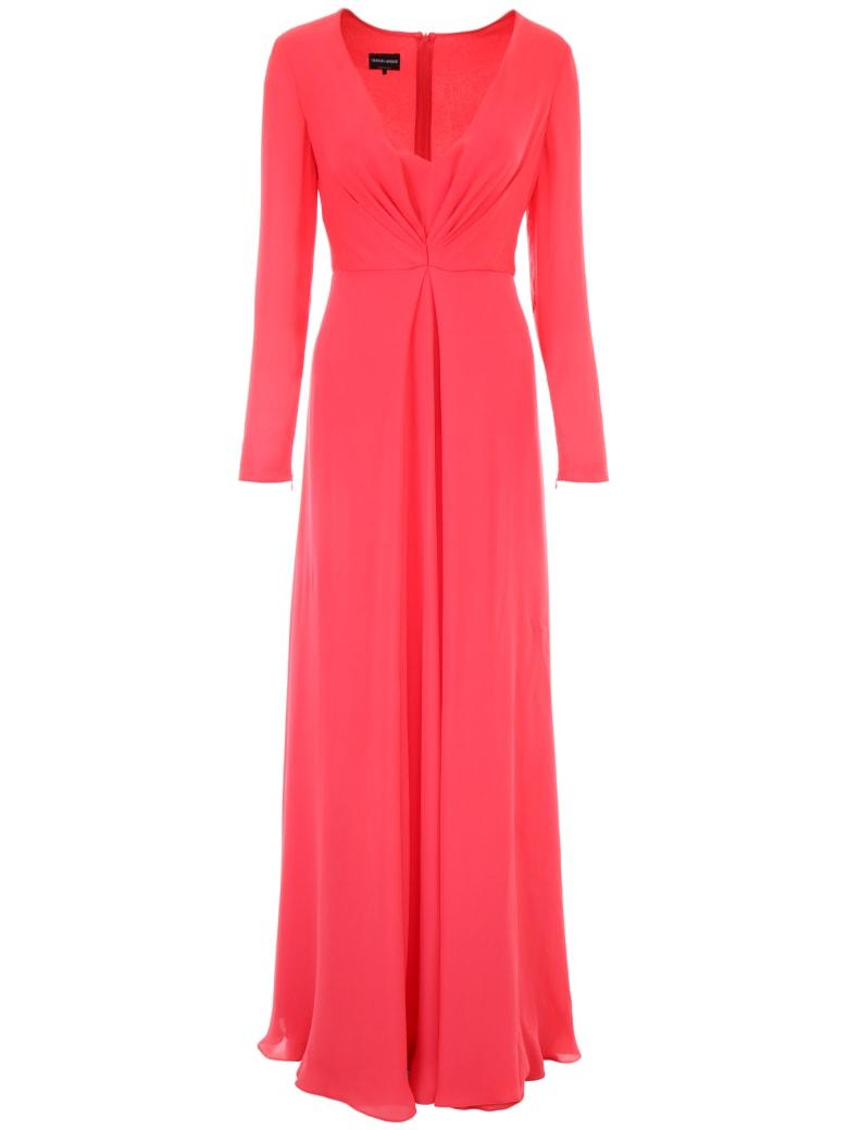 Giorgio Armani Long Silk Dress - ROSSO (Red)