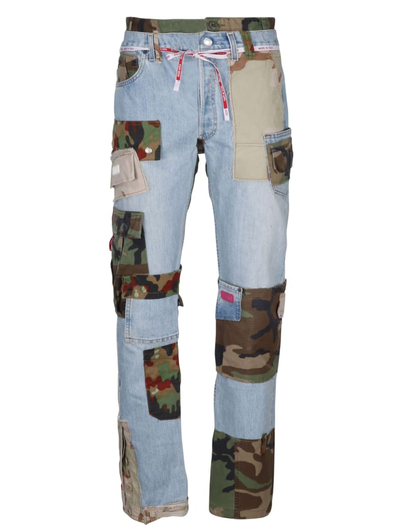 GCDS Recycle Patchwork Jeans