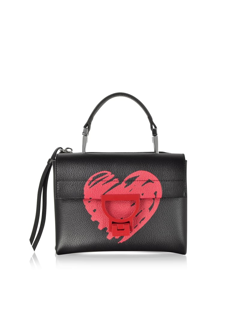 Coccinelle Arlettis San Valentino Leather Shoulder Bag - Black