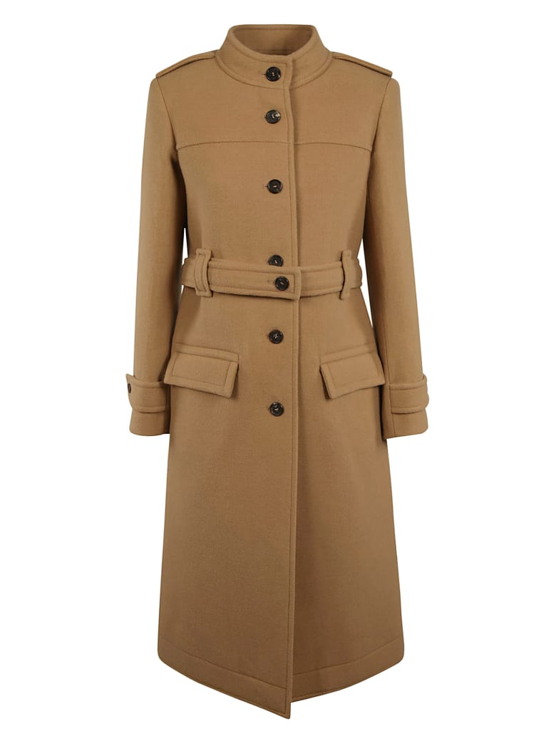 Chloé Buttoned Coat - WORN BROWN