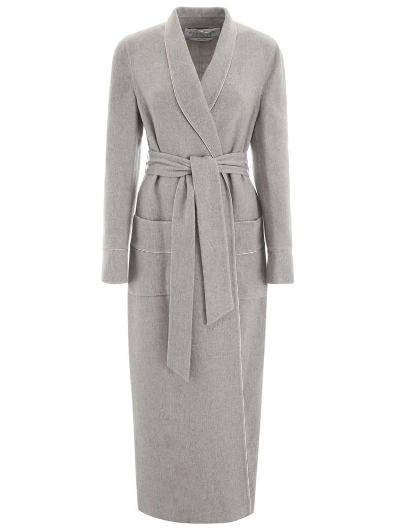 Gabriela Hearst Eduardo Wrap Coat - LIGHT GREY MELANGE (Grey)