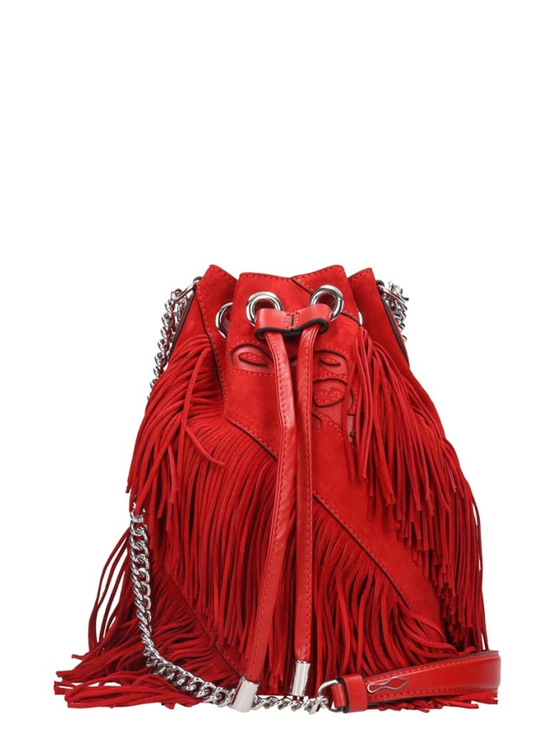 Christian Louboutin Maria Jane Shoulder Bag In Red Suede - red