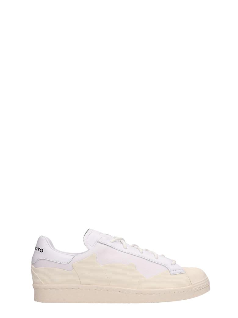 Y-3 Super Takusan White Leather Sneakers - white