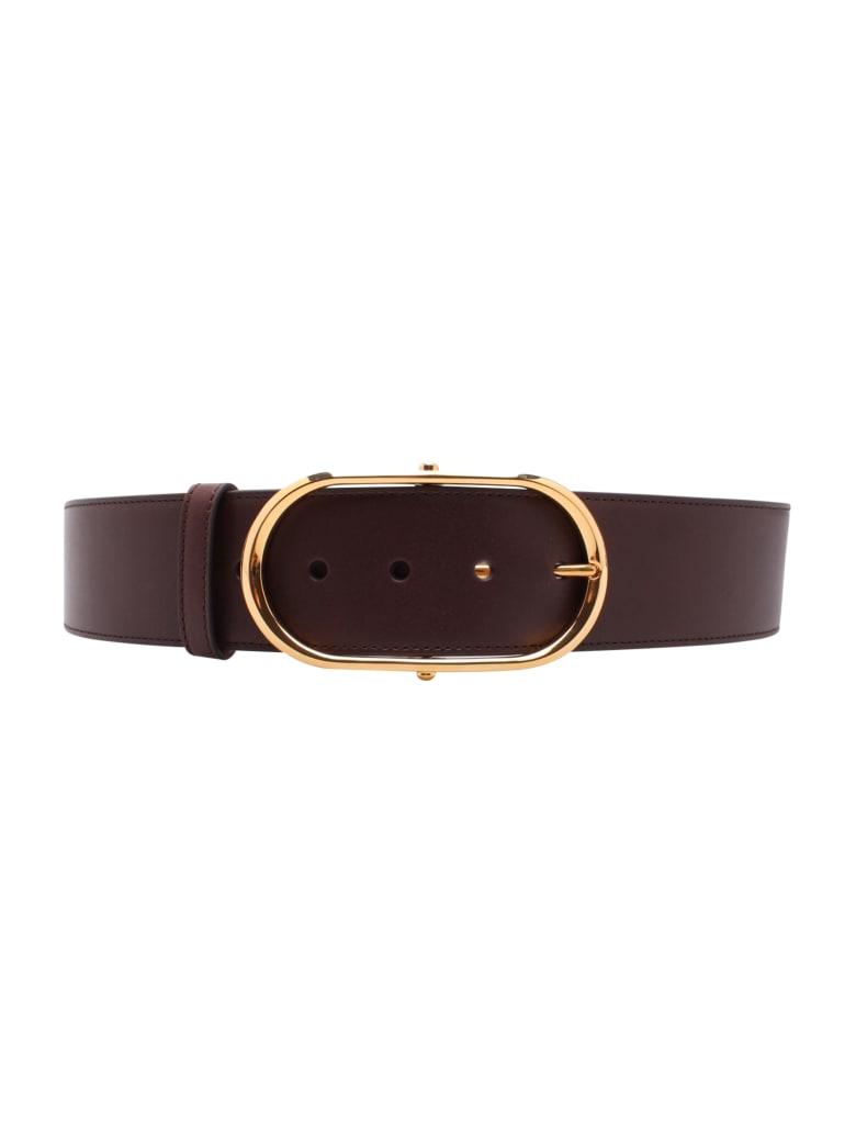 Dolce & Gabbana Leather Belt - Testa di moro