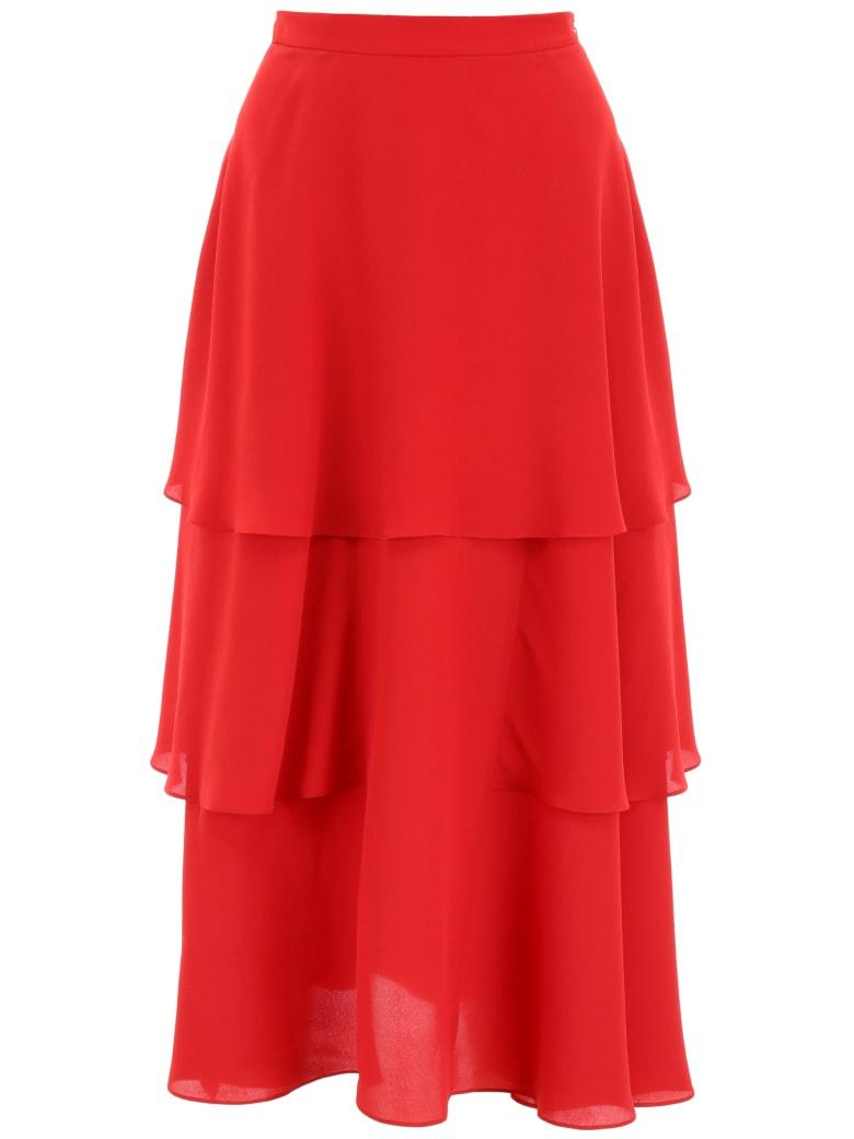 Stella McCartney Silk Midi Skirt - RED ROMANCE (Red)