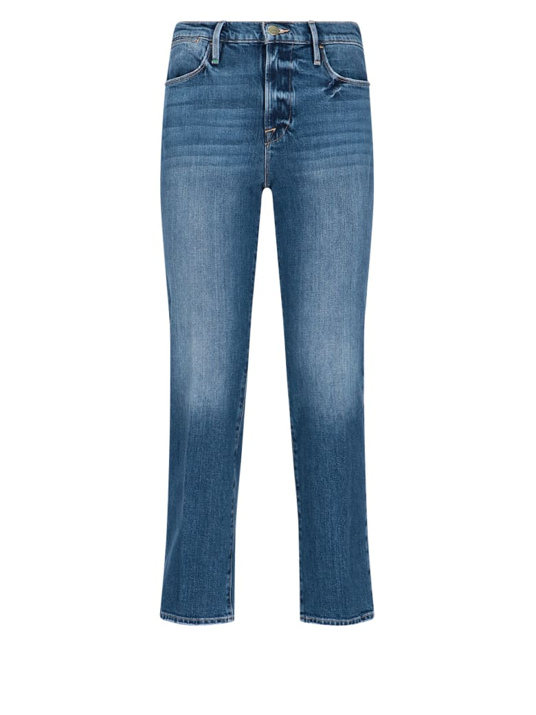 Frame Classic Crop Denim Pants - Blue