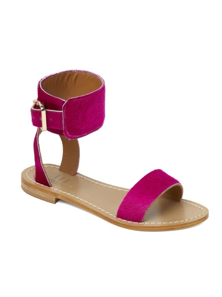 Emanuela Caruso Handmade Flat Monk Sandals - Fucsia