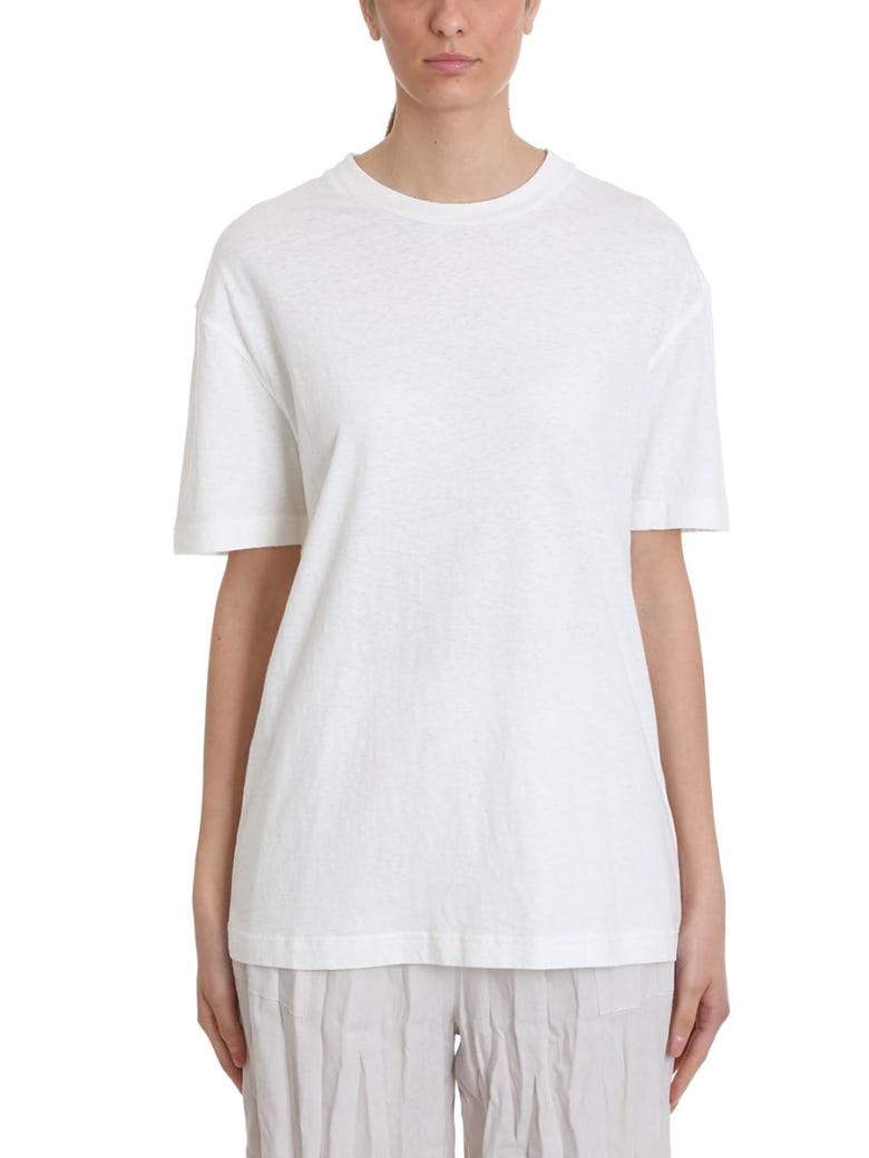 Acne Studios Elice T-shirt In White Cotton - white