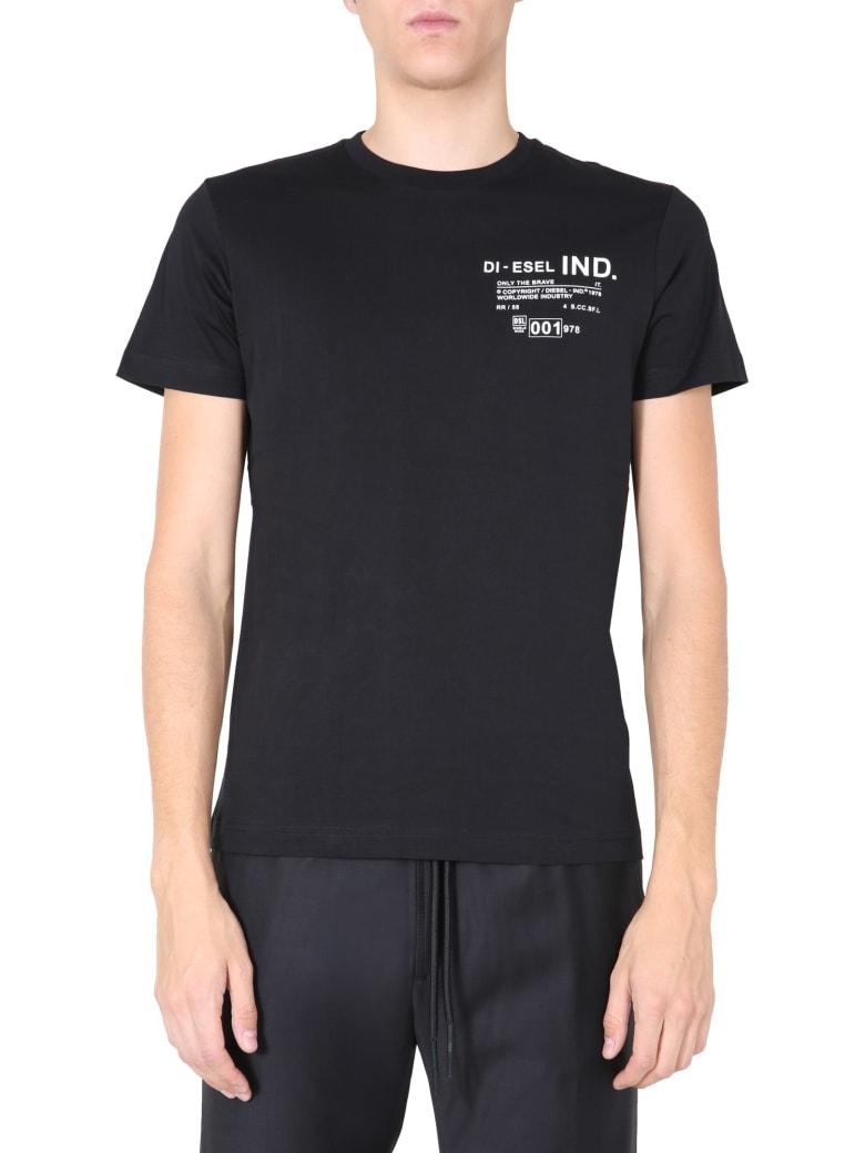 Diesel Crew Neck T-shirt - NERO