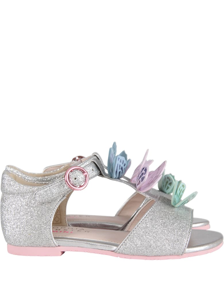 Sophia Webster Mini Silver ''riva Sandal Infant'' Sandals - Silver