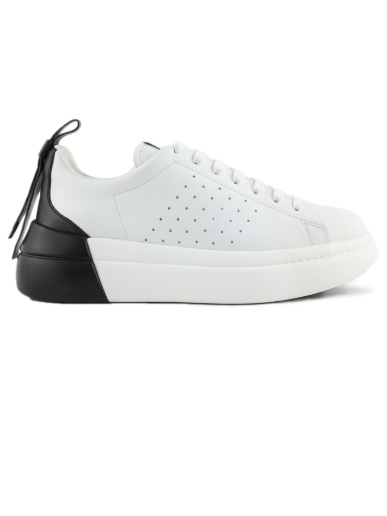 RED Valentino Bowalk Lace-up Sneaker In Leather - Bianco+nero