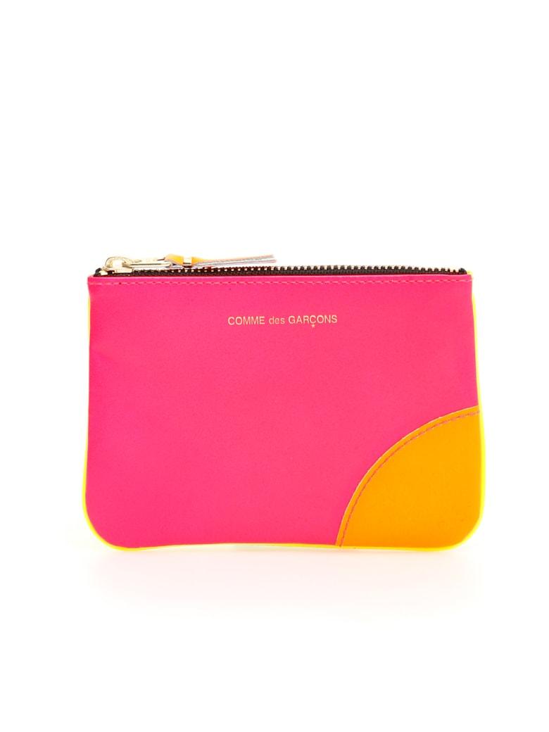 Comme des Garçons Wallet Unisex Super Fluo Pouch - PINK YELLOW (Yellow)