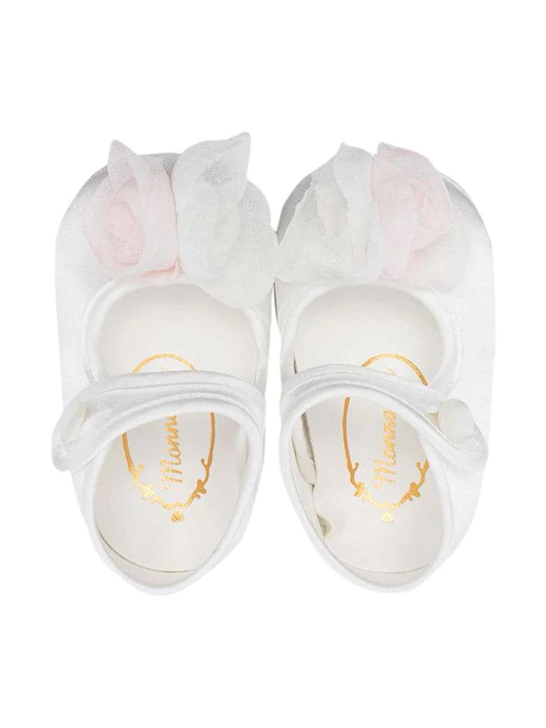 Monnalisa Monnalisa White Ballet Flats - Panna