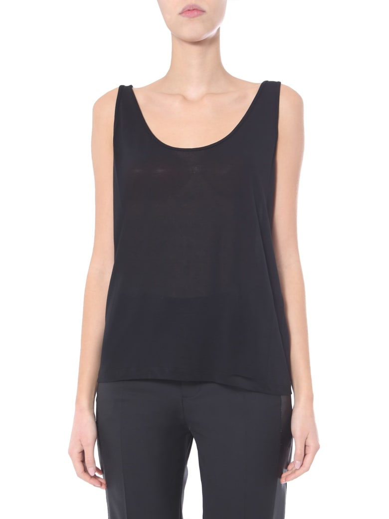 Rick Owens Round Neck Top - NERO
