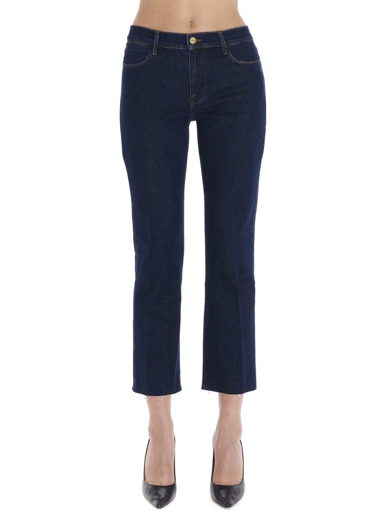 Frame 'high Straight Raw Edge' Jeans - Blue