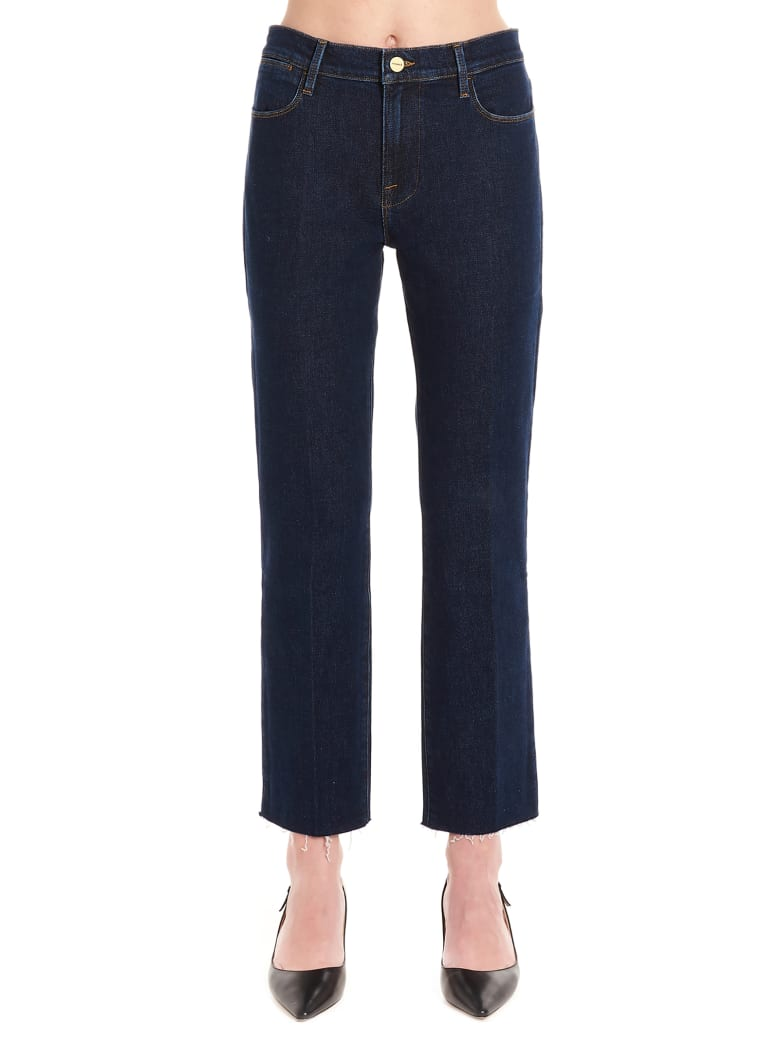 Frame 'le High Straight' Jeans - Blue
