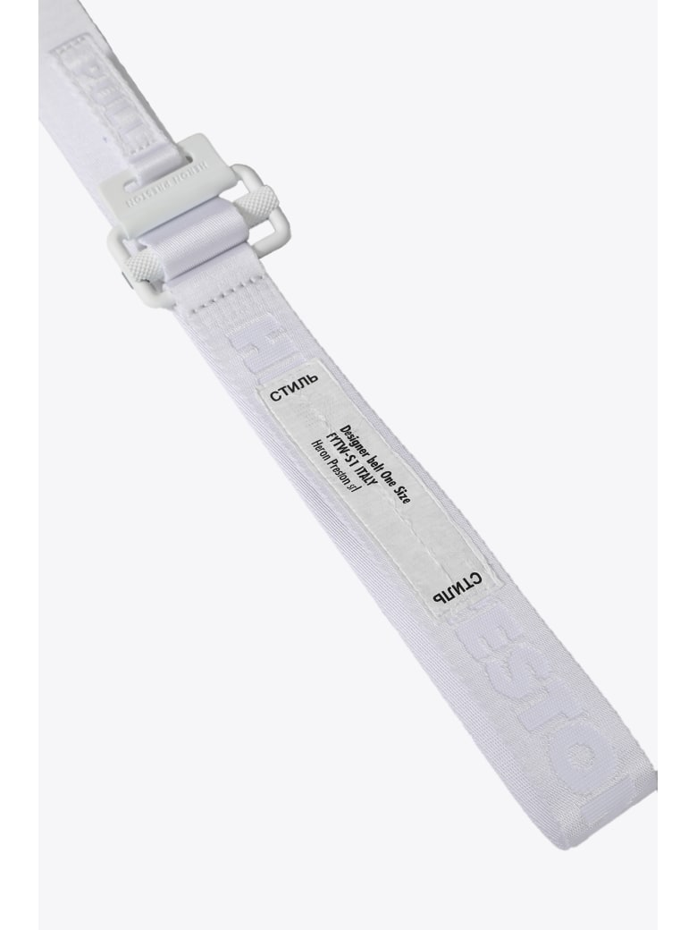 HERON PRESTON Tape Belt 3cm Mini Buckle - Bianco