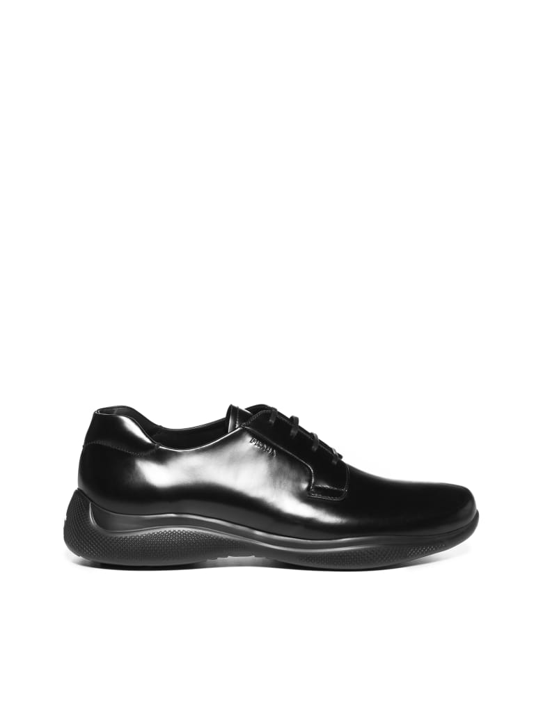 Prada Linea Rossa Laced Shoes - Nero