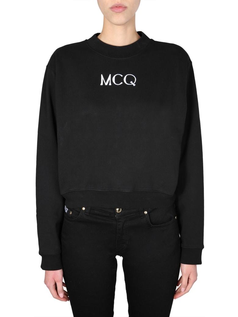 McQ Alexander McQueen Cropped Sweatshirt - NERO