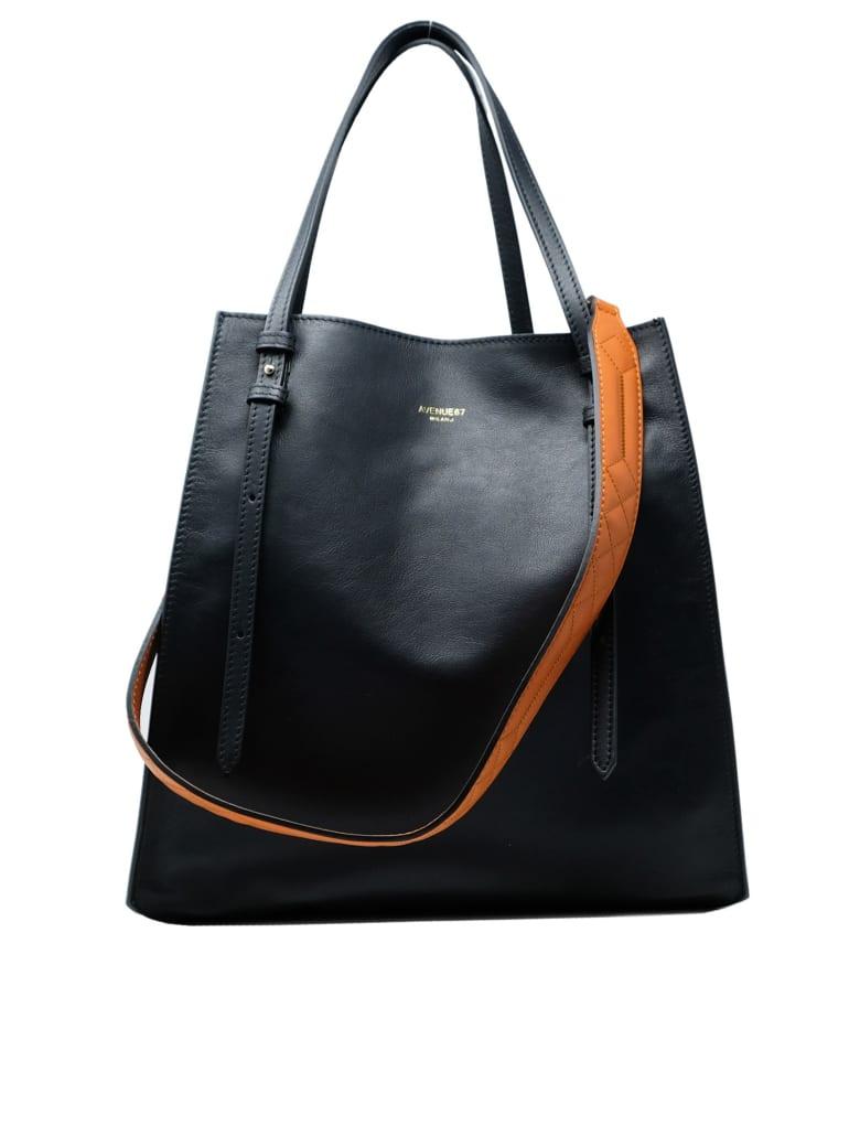Avenue 67 Leather Aurora Bag - BLACK