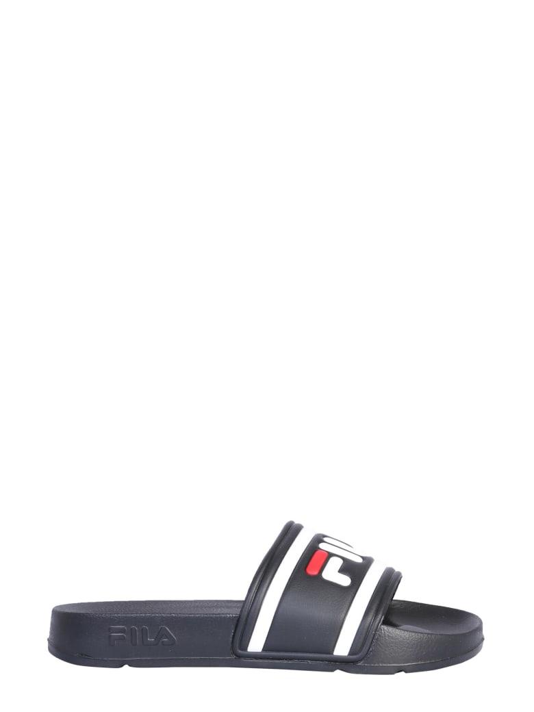 Fila Slide Sandal With Logo - NERO