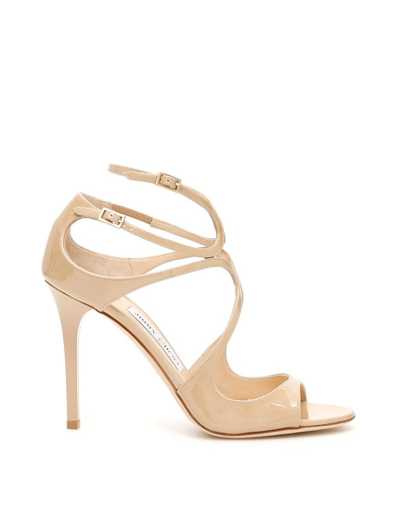 Jimmy Choo Patent Lang Sandals - NUDE (Beige)