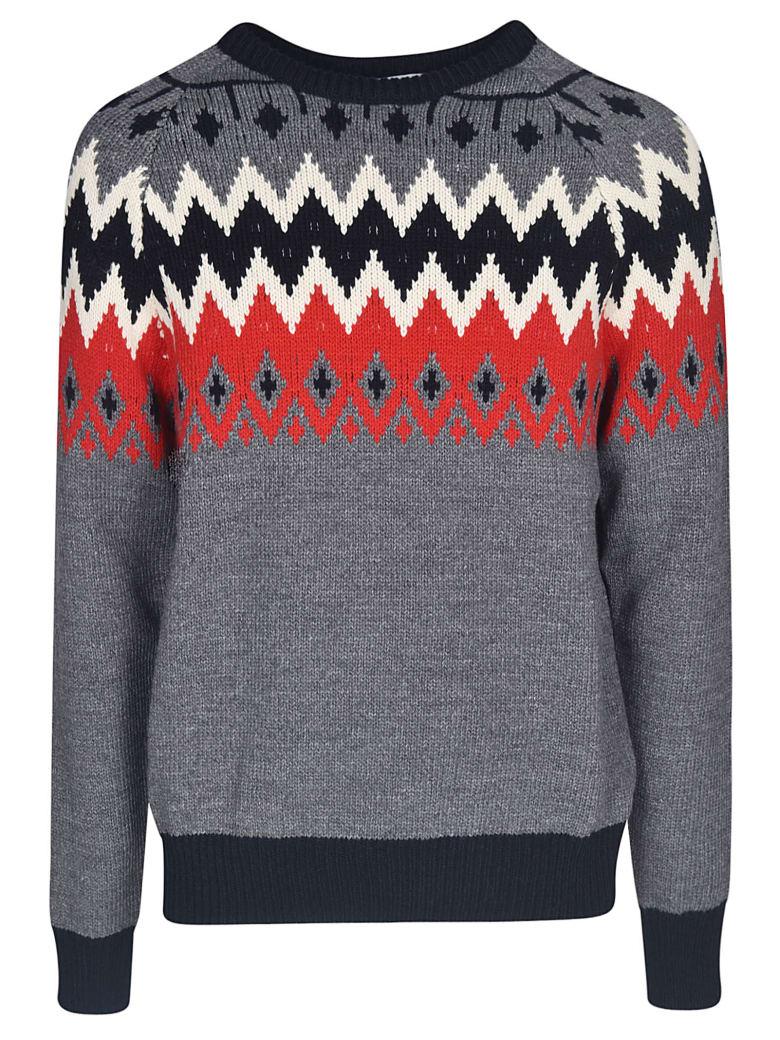 MSGM Round Neck Sweater - Grigio