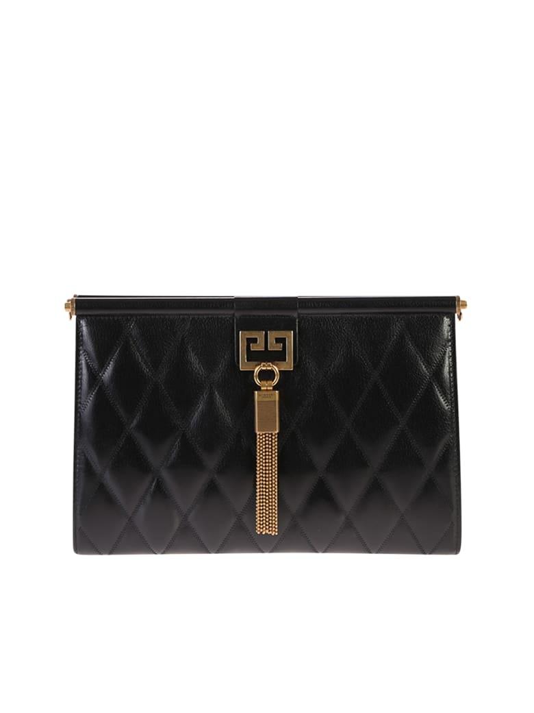 Givenchy Black Medium Gem Quilted Bag - Black