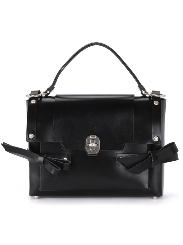 Niels Peeraer Modello Bow Black Leather Bag - NERO