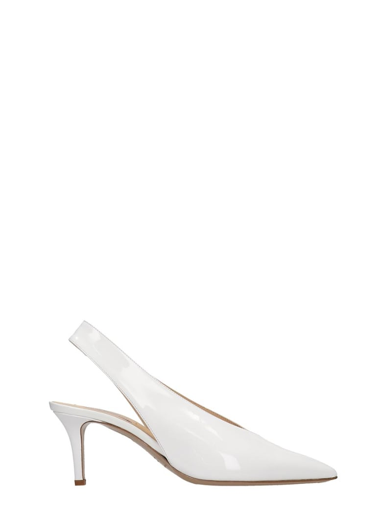 Fabio Rusconi Pumps In White Patent Leather - white