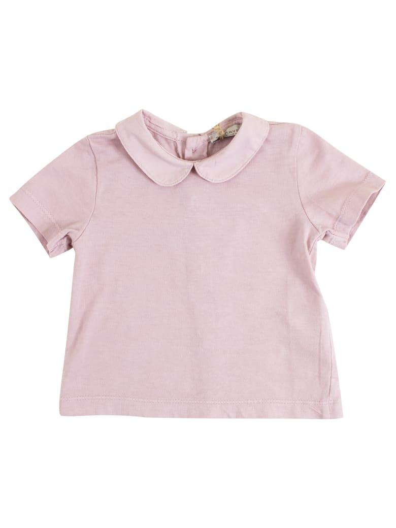 De Cavana Baby T-shirt With Collar - Pink