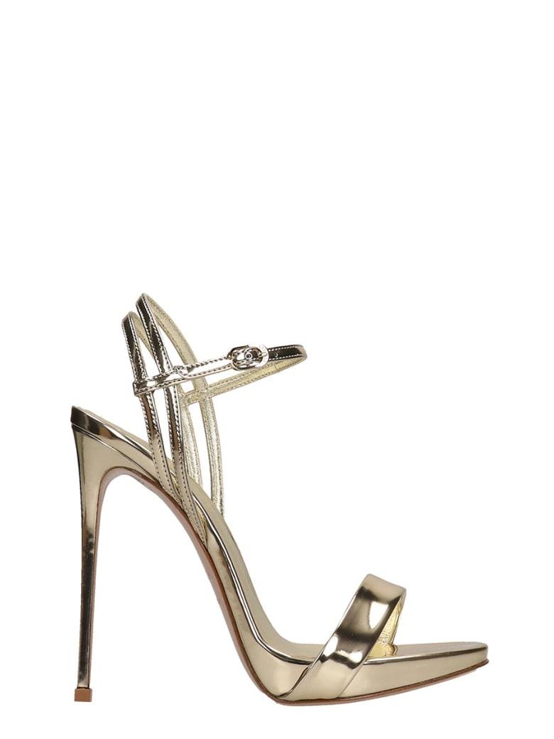 Le Silla Sandals In Platinum Leather - platinum