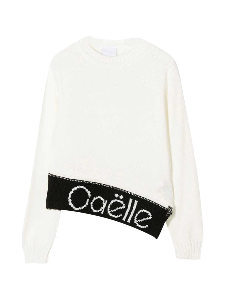 Gaelle Bonheur White Sweater Kids - Bianco/nero
