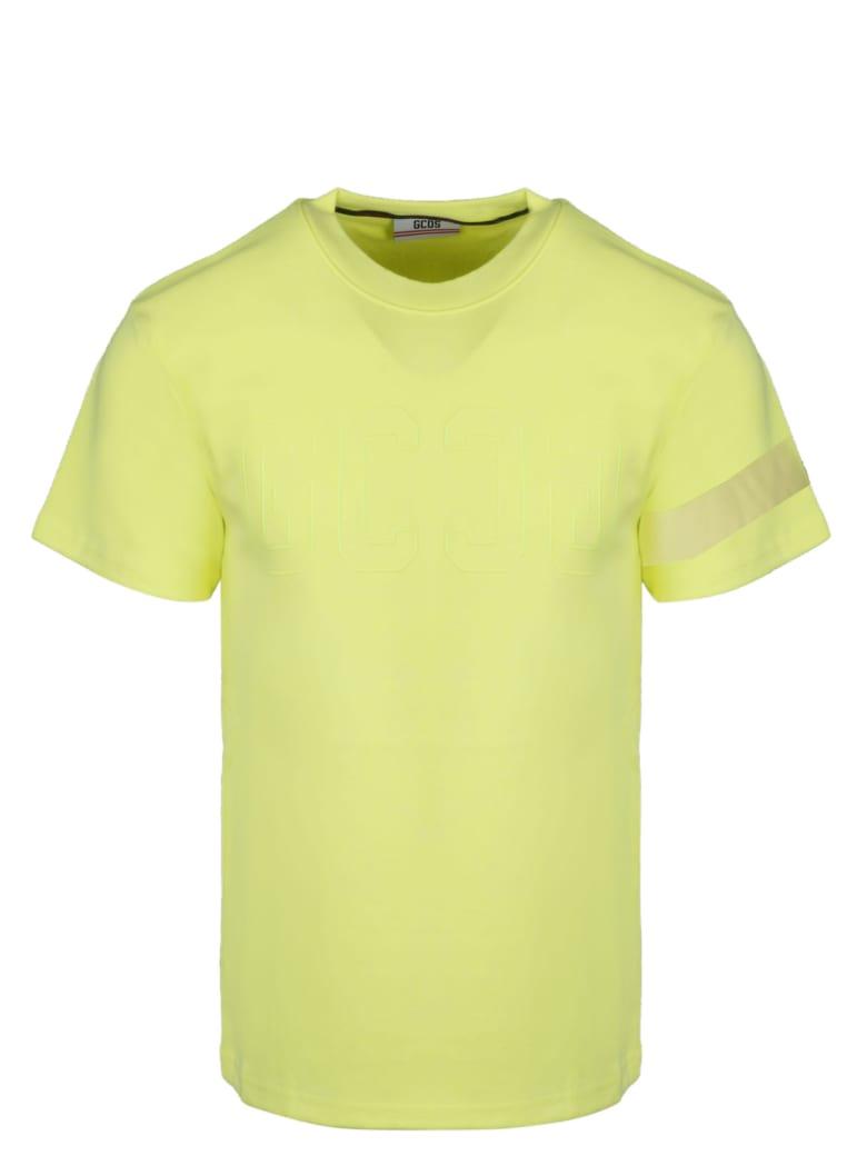 GCDS Logo Tee Fluo T-shirt - Yellow & Orange