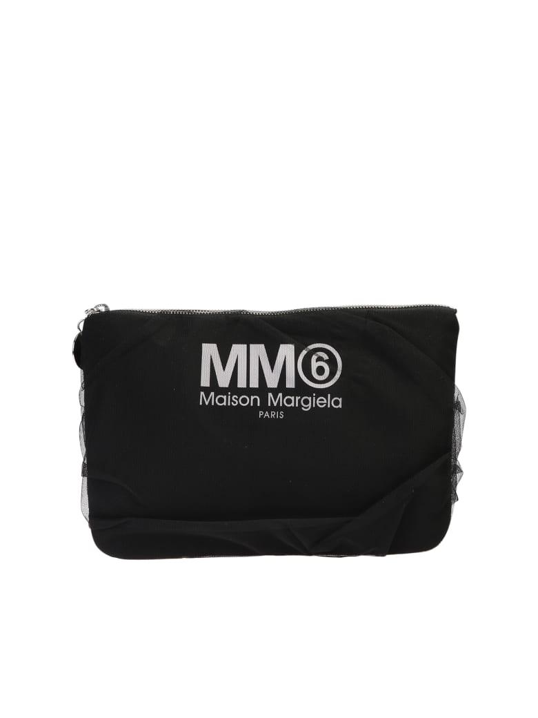 MM6 Maison Margiela Branded Clutch - Black