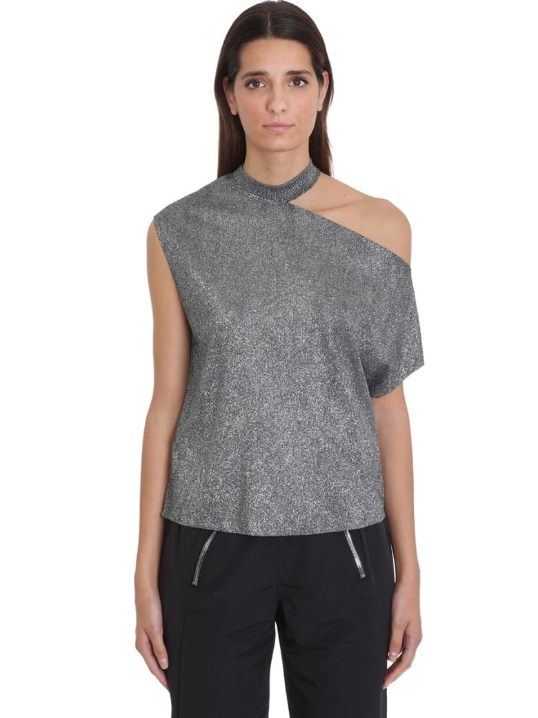 RTA T-shirt In Silver Cotton - Argento