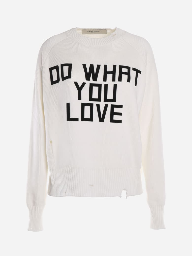Golden Goose Delilah Sweater With Print - Bianco