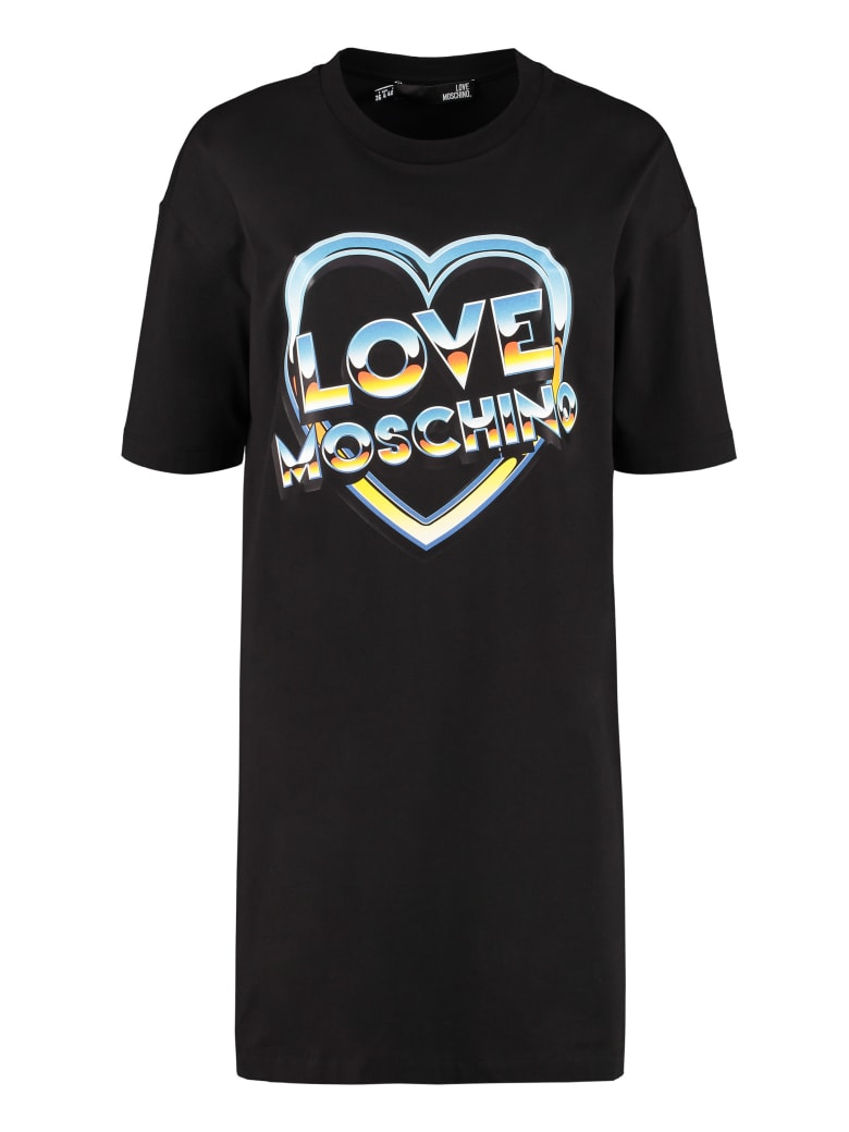 Love Moschino Cotton Mini-dress - black