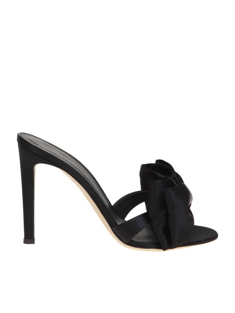 Giuseppe Zanotti Hanna Sandal In Satin Color Black - Black