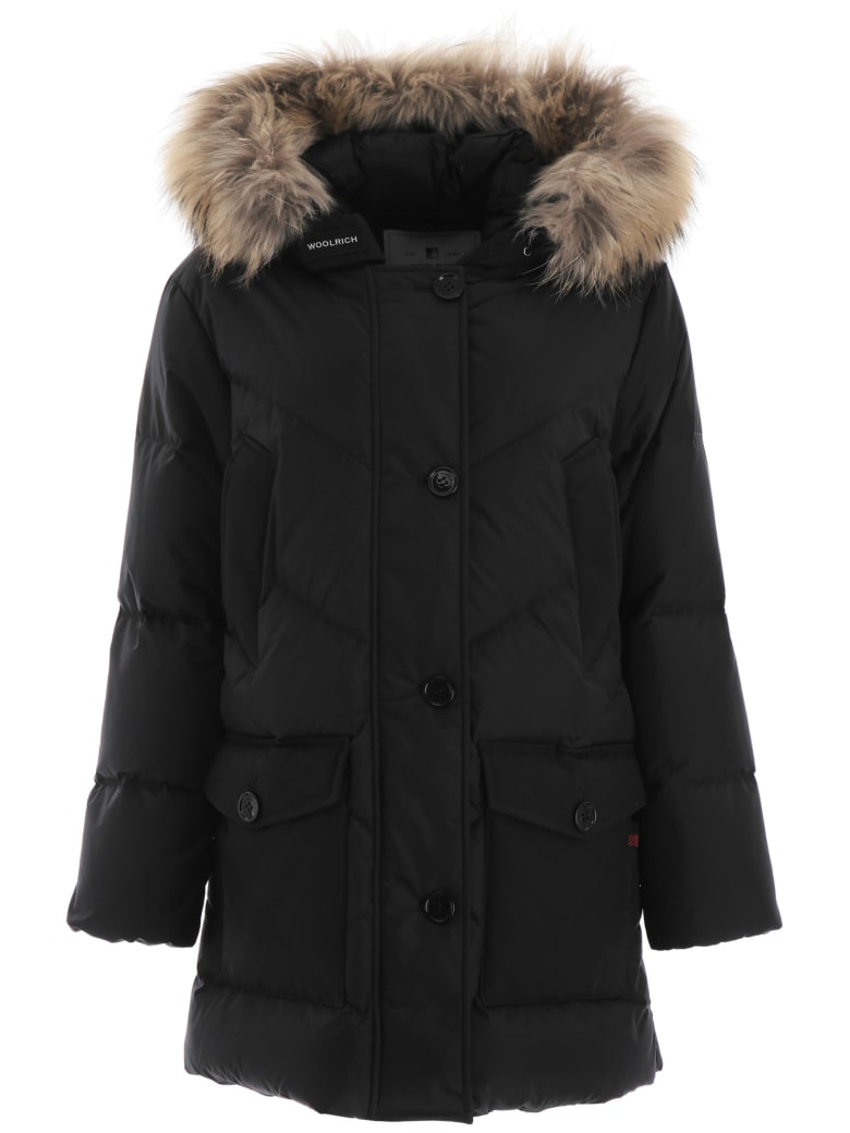 Woolrich Parka With Fur - BLACK (Black)