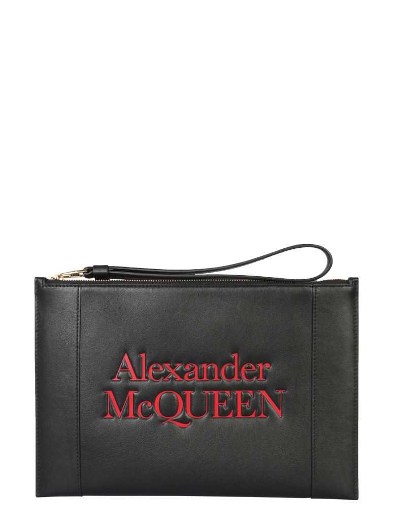 Alexander McQueen Signature Clutch - NERO
